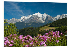 Foam board print  View from the village of Cordon to Mont Blanc Massif, France - Frauke Scholz
