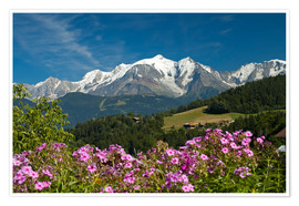 Premium poster  View from the village of Cordon to Mont Blanc Massif, France - Frauke Scholz
