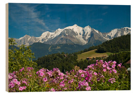 Wood print  View from the village of Cordon to Mont Blanc Massif, France - Frauke Scholz