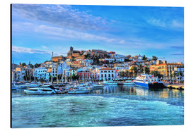 Aluminium print  View of the old port of Ibiza - HADYPHOTO