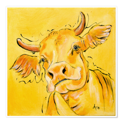 Premium poster The yellow cow Lotte