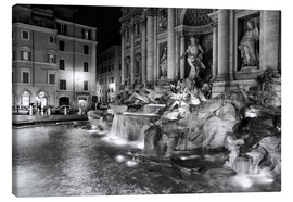 Canvas print  Trevi fountain in Rome - Filtergrafia