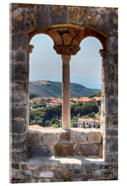 Acrylic print  A view through the window in Tuscany, Italy - Filtergrafia