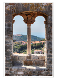 Premium poster  A view through the window in Tuscany, Italy - Filtergrafia
