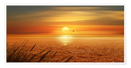 Premium poster  Sunset Over The Ocean - Monika Jüngling