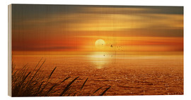 Wood print  Sunset Over The Ocean - Monika Jüngling