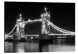 Aluminium print  Tower Bridge by Night sw - Melanie Viola