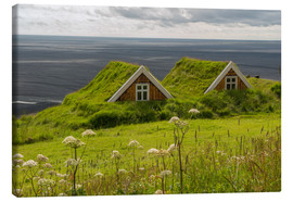 Canvas print  Traditional Houses in the Skaftafell National Park, Iceland - Markus Ulrich