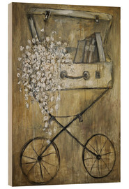 Wood print  flower - Christin Lamade