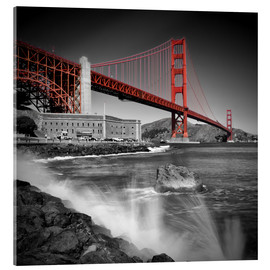 Acrylic print  Golden Gate Bridge Fort Point - Melanie Viola