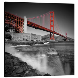 Aluminium print  Golden Gate Bridge Fort Point - Melanie Viola