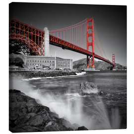 Canvas print  Golden Gate Bridge Fort Point - Melanie Viola