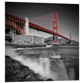 Foam board print  Golden Gate Bridge Fort Point - Melanie Viola