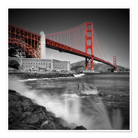 Premium poster  Golden Gate Bridge Fort Point - Melanie Viola