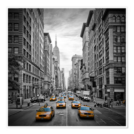 Premium poster  New York City, 5th Avenue Traffic - Melanie Viola