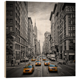 Wood print  NEW YORK CITY 5th Avenue Traffic - Melanie Viola