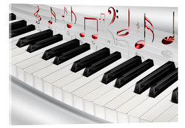 Acrylic print  Piano keyboard with notes - Kalle60