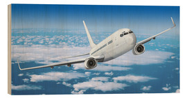 Wood print  Passenger airline over the clouds - Kalle60