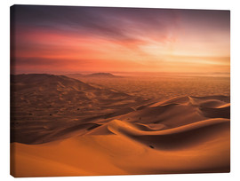 Canvas  Desert Sunset - Andreas Wonisch