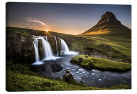 Canvas print  Fair Tyle Countryside in Iceland - Andreas Wonisch
