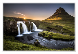 Premium poster  Fair Tyle Countryside in Iceland - Andreas Wonisch