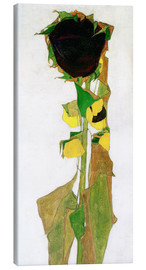 Canvas print  Sunflower - Egon Schiele
