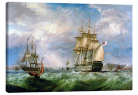 Canvas print  British Men-O'-War near Cork - George Mounsey Wheatley Atkinson