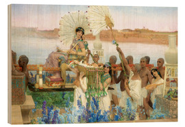 Wood print  The Finding of Moses by Pharaoh's Daughter - Lawrence Alma-Tadema