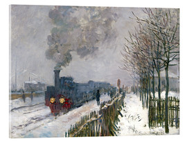 Acrylic glass  Train in the snow (The Locomotive) - Claude Monet