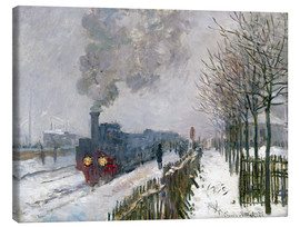 Canvas print  Train in the snow (The Locomotive) - Claude Monet