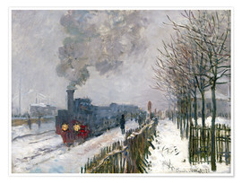 Premium poster  Train in the snow (The Locomotive) - Claude Monet