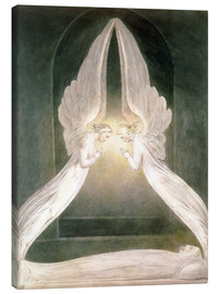 Canvas print  Christ in the Sepulchre, Guarded by Angels - William Blake