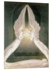Foam board print  Christ in the Sepulchre, Guarded by Angels - William Blake