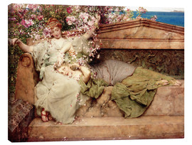 Canvas print  In a Rose Garden - Lawrence Alma-Tadema