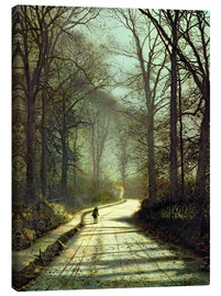 Canvas print  Moonlight Walk - John Atkinson Grimshaw