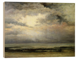Wood print  The immensity - Gustave Courbet