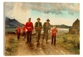 Wood print  'Listed for the Connaught Rangers': Recruiting in Ireland, 1878 - Lady Butler