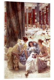 Acrylic print  The Baths of Caracalla - Lawrence Alma-Tadema