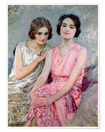 Premium poster Two Young Women Seated