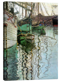 Canvas print  The port at Trieste - Egon Schiele