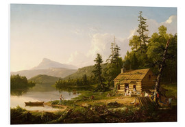 Foam board print  Home in the Woods - Thomas Cole