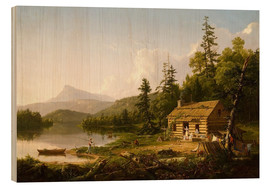 Wood print  Home in the Woods - Thomas Cole