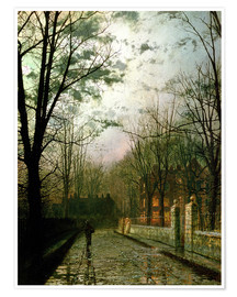 Premium poster  After the Shower - John Atkinson Grimshaw