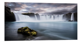 Foam board print  Godafoss Waterfall in Iceland - Andreas Wonisch