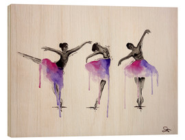 Wood print  Ballett Pose - Sam Reimann