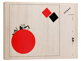 Wood print  The Story of Two Squares - El Lissitzky