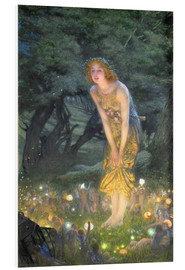 Foam board print  Midsummer Eve - Edward Robert Hughes