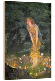 Wood print  Midsummer Eve - Edward Robert Hughes