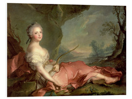 Foam board print  Maria Adelaide of France as Diana - Jean-Marc Nattier