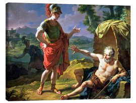 Canvas print  Alexander and Diogenes, 1818 - Nicolas Andre Monsiau